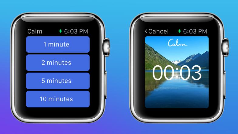 Ứng dụng Calm cũng đã có trên đồng hồ Apple Watch