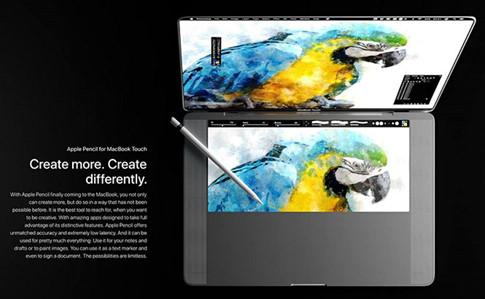 Một số hình ảnh khác trong bản concept MacBook Touch
