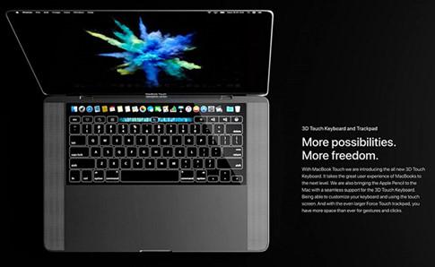 MacBook Touch được mô tả trong concept là thiết kế mở ra kỷ nguyên mới