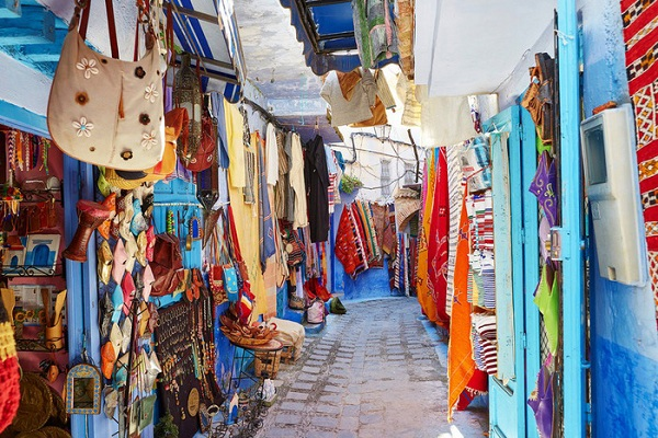 Đường phố ở Marrakech, Morocco