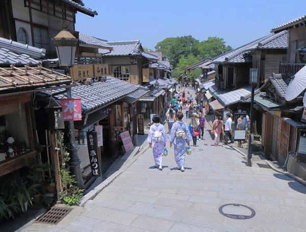 Phố đi bộ Ryokan ở Kyoto, Nhật Bản