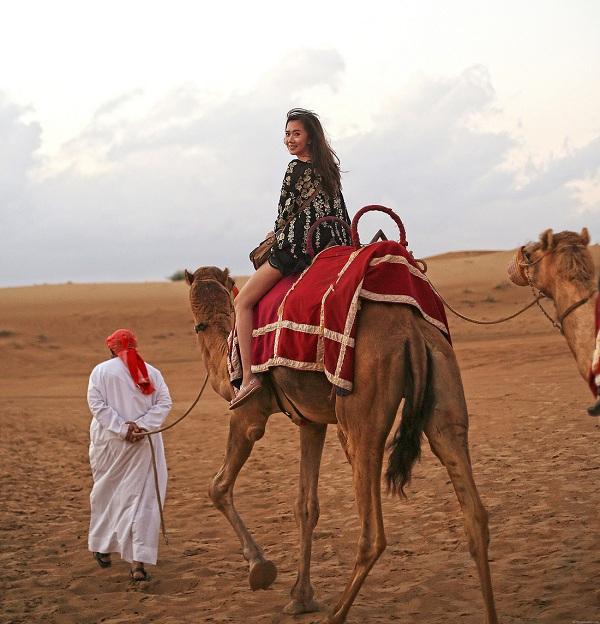 Bạn có thể tự cưỡi lạc đà hoặc có người dắt lạc đà đi nếu bạn chưa quen.