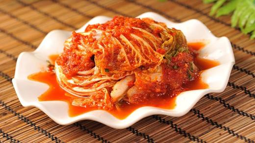 Món kim chi của Hàn Quốc với lượng ớt khá nhiều