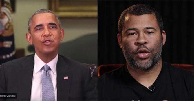 Giọng nói và khuôn miệng của Peele được sửa để ghép vào video của ông Obama. Ảnh cắt từ Clip
